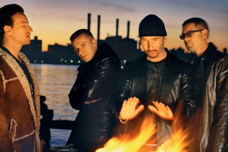 Foto av U2 i Brooklyn