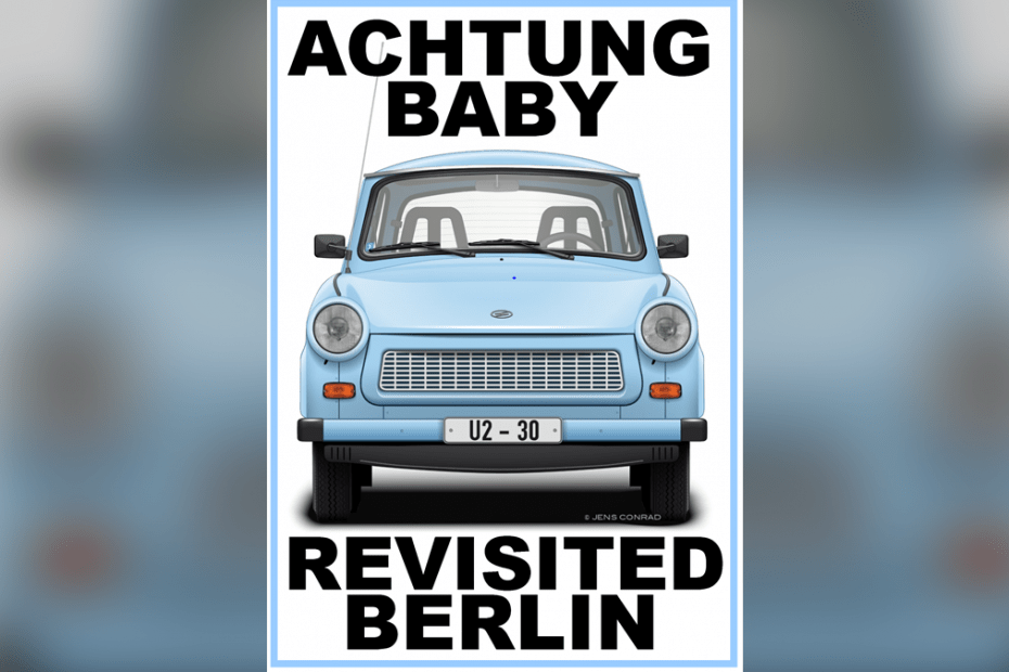 "Nyhetsetta, omslag ""Achtung Baby Revisited Berlin"" från Different Books"